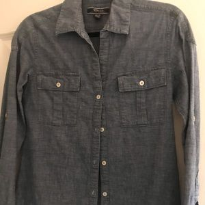 Tommy Bahama denim chambray button down XS